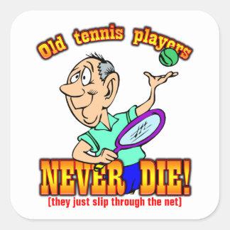 Tennis Players Square Sticker