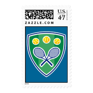 Tennis postage stamp