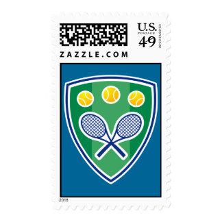 Tennis postage stamp