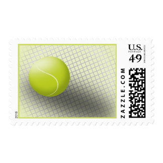Tennis postage stamp. USA postage, tennis ball.