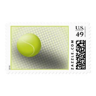 Tennis postage stamp. USA postage, tennis ball.