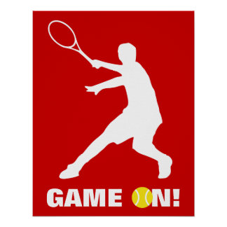 Tennis poster with custom quote | Game on