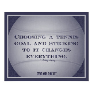 Tennis Poster with Quote 001