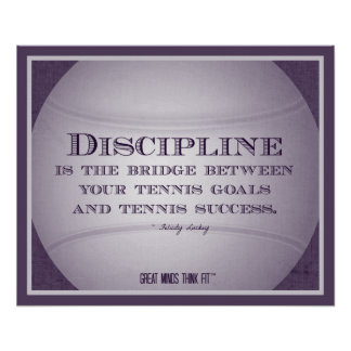 Tennis Poster with Quote 002