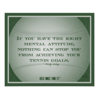 Tennis Poster with Quote 003