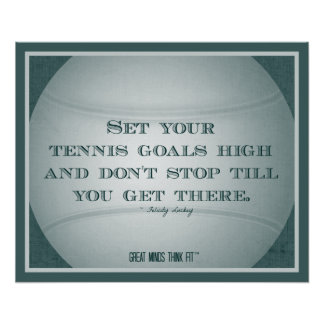 Tennis Poster with Quote 004