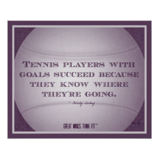 Tennis Poster with Quote 006