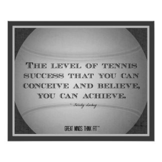 Tennis Poster with Quote 014