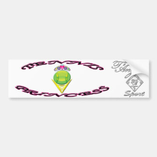 Tennis Princess Bumper Sticker