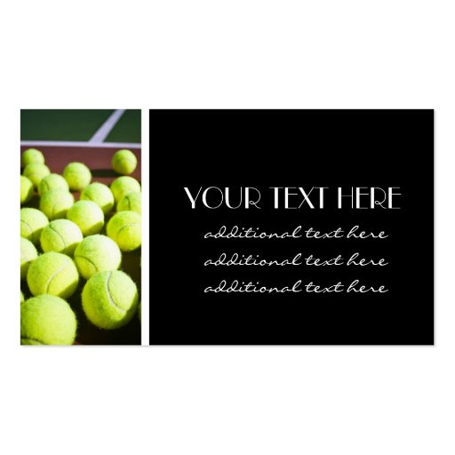 Tennis Pro Business Card Templates