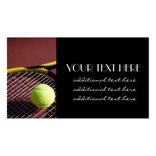 Tennis Pro Business Cards