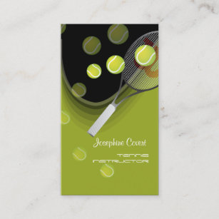 Tennis pro business cards zazzle tennis pro tennis instructors business cards reheart Gallery