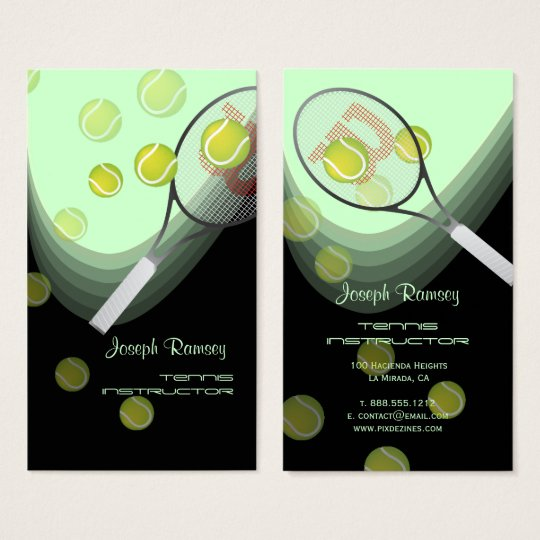 Tennis pro/tennis instructors DIY background color Business Card