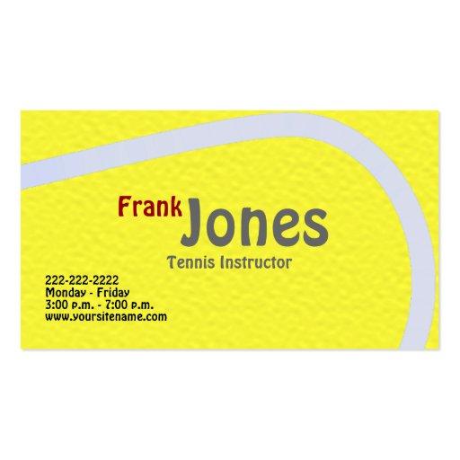 Tennis Profile Cards Business Card Templates