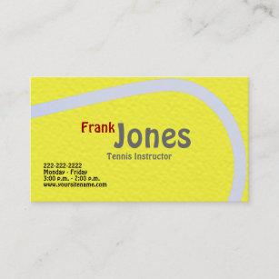 Tennis coach business cards zazzle tennis profile cards colourmoves