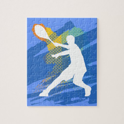 Tennis puzzle - cool gift for players and fans