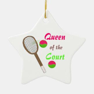 Tennis - Queen of the Court Ceramic Ornament