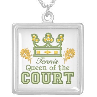 Tennis Queen of the Court Sterling Silver Necklace