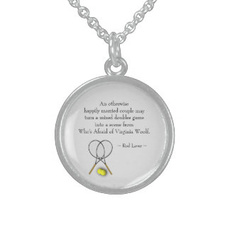 Tennis Quote Mixed Double Locket