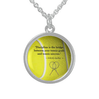 Tennis Quote Sterling Silver Necklace