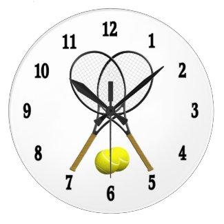 Tennis Rack Sport Wall Clock
