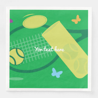 Tennis racket and ball BBQ or kids Birthday party Paper Dinner Napkin