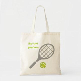 Tennis racket and ball custom budget tote bag