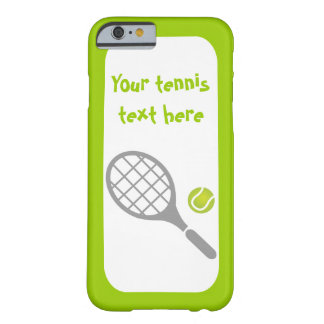 Tennis racket and ball custom barely there iPhone 6 case