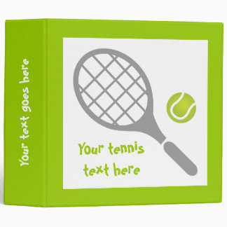 Tennis racket and ball custom binder
