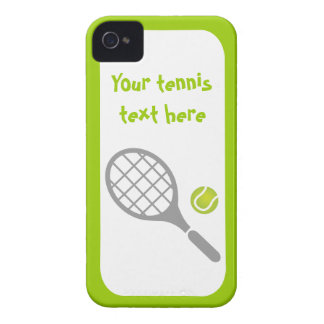 Tennis racket and ball custom iPhone 4 cover