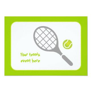 Tennis racket and ball custom personalized invitation