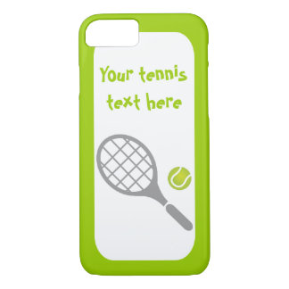 Tennis racket and ball custom iPhone 8/7 case