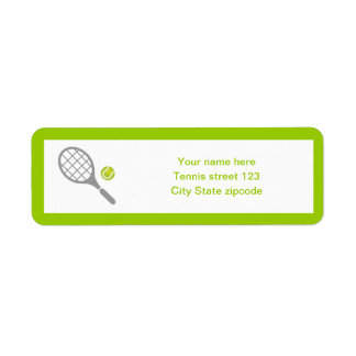 Tennis racket and ball custom label