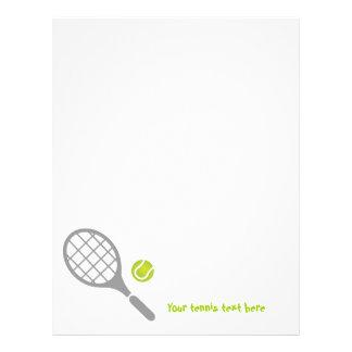 Tennis racket and ball custom letterhead