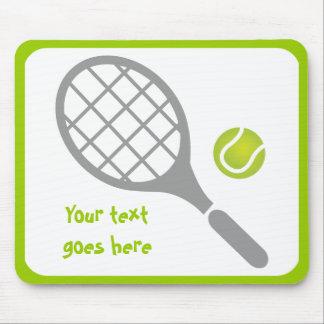 Tennis racket and ball custom mouse pad