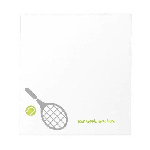 Tennis racket and ball custom notepad