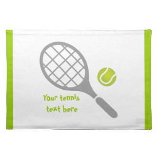 Tennis racket and ball custom placemat