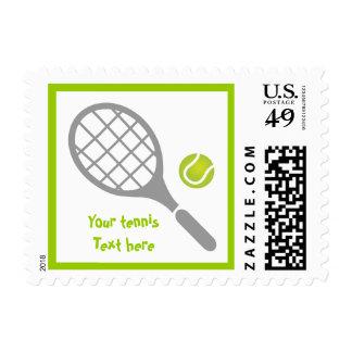 Tennis racket and ball custom postage