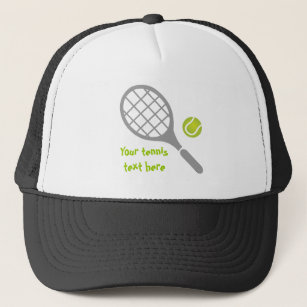 Tennis racket and ball custom trucker hat 31824af0de0