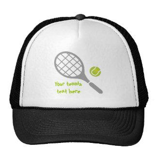Tennis racket and ball custom trucker hat