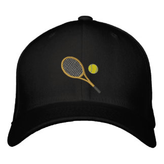 Tennis Racket and Ball Embroidered Cap