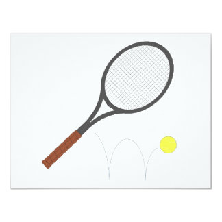 Tennis Racket And Ball Personalized Announcements