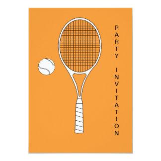 Tennis Racket and Ball Invitation