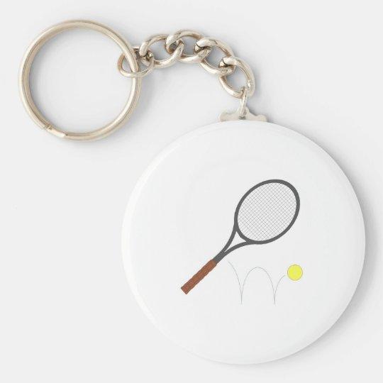 Tennis Racket And Ball Keychain