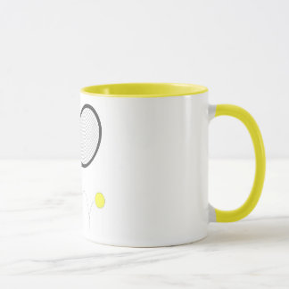 Tennis Racket And Ball Mug