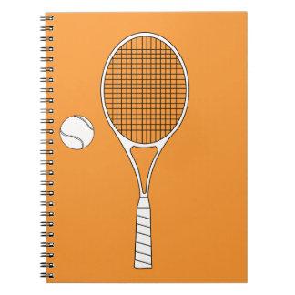 Tennis Racket and Ball Notebook