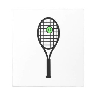 Tennis Racket and Ball Notepad