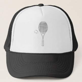 Tennis Racket and Ball Outline Hat