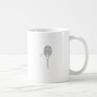 Tennis Racket and Ball Outline Mug