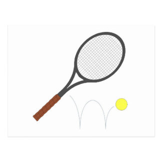 Tennis Racket And Ball Post Cards